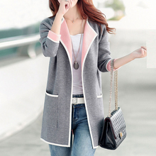 Brieuces Autumn Winter Jacket Coats 5XL plus size women coat Knitted Jackets Female Outerwear Fashion Cardigan long jacket