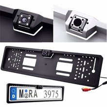 Car Rear View Camera Auto Parktronic EU Car License Plate Frame HD Night Vision 170 Degree Back Up Reverse Camera with 4 LEDs