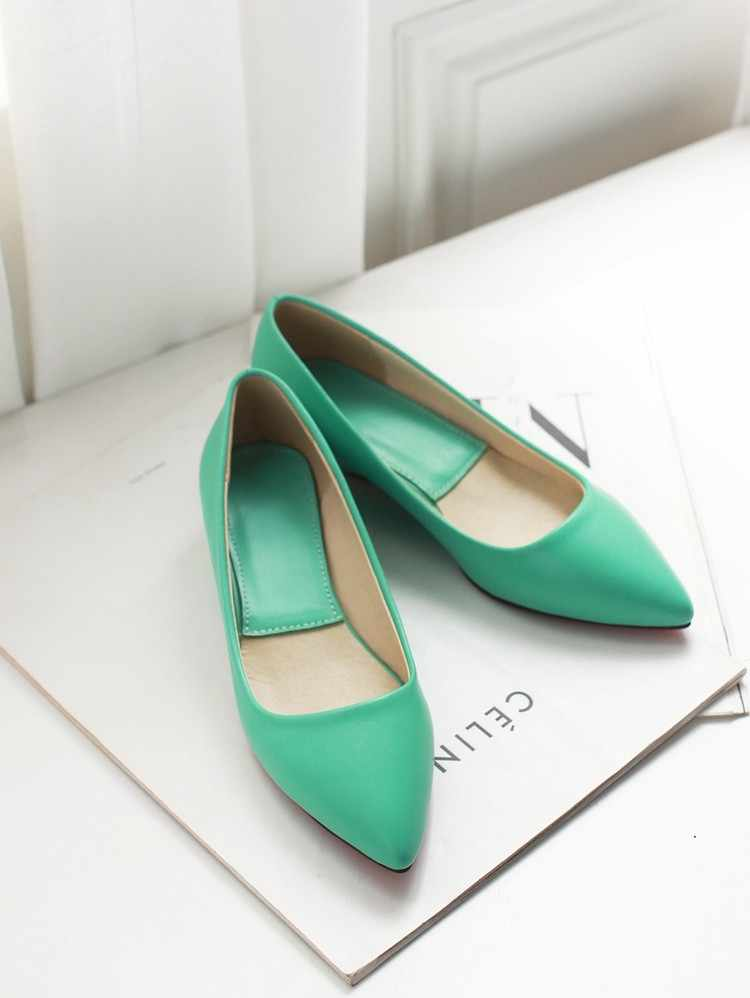 a05e42a56a Ladies Black Green Wedges Shoes Pointed Toe Chunky Heel PU leather High  Heels Pumps Plus Size 11 15 34 Mujer Zapatos Brand Shoes