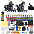 Solong Tattoo Complete Tattoo Kit for Beginner Starter 2 Pro Machine Guns 28 Inks Power Supply Needle Grips Tips TK204-2