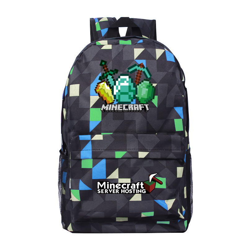 2017 Newest Royal Oxford Minecraft Glowing School Bag model minecraft creeper backpack for unisex GAME Birthday gift kids 2015 newest royal 100