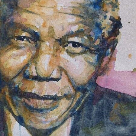 Лучшая оригинальная картина маслом президент Южной Африки Нельсон Мандела художественная живопись маслом 100% ручная роспись