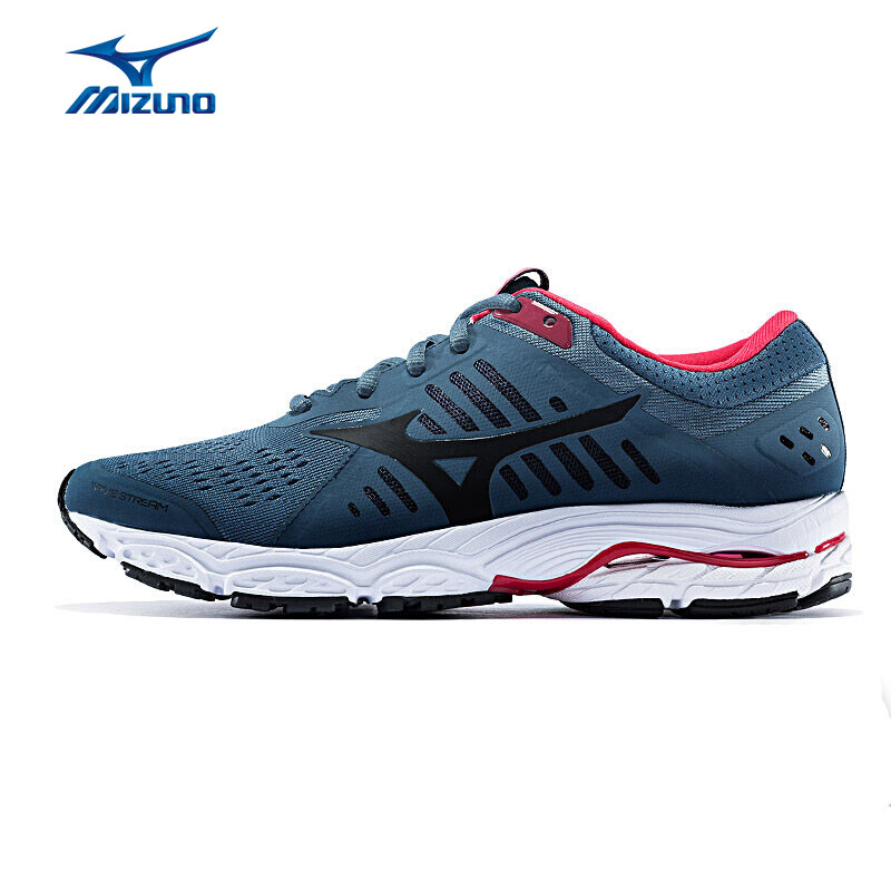 MIZUNO Women WAVE STREAM(W) Buffer Running Shoes Breathable Sports Shoes Cushion Sneakers J1GD181909 XWR095 цена 2017