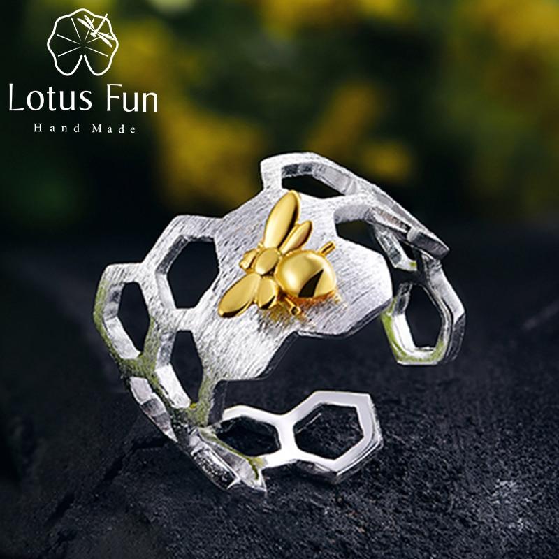 Lotus Fun Echt 925 Sterling Silber Schmuck Natürliche Handgemachte - Edlen Schmuck - Foto 1
