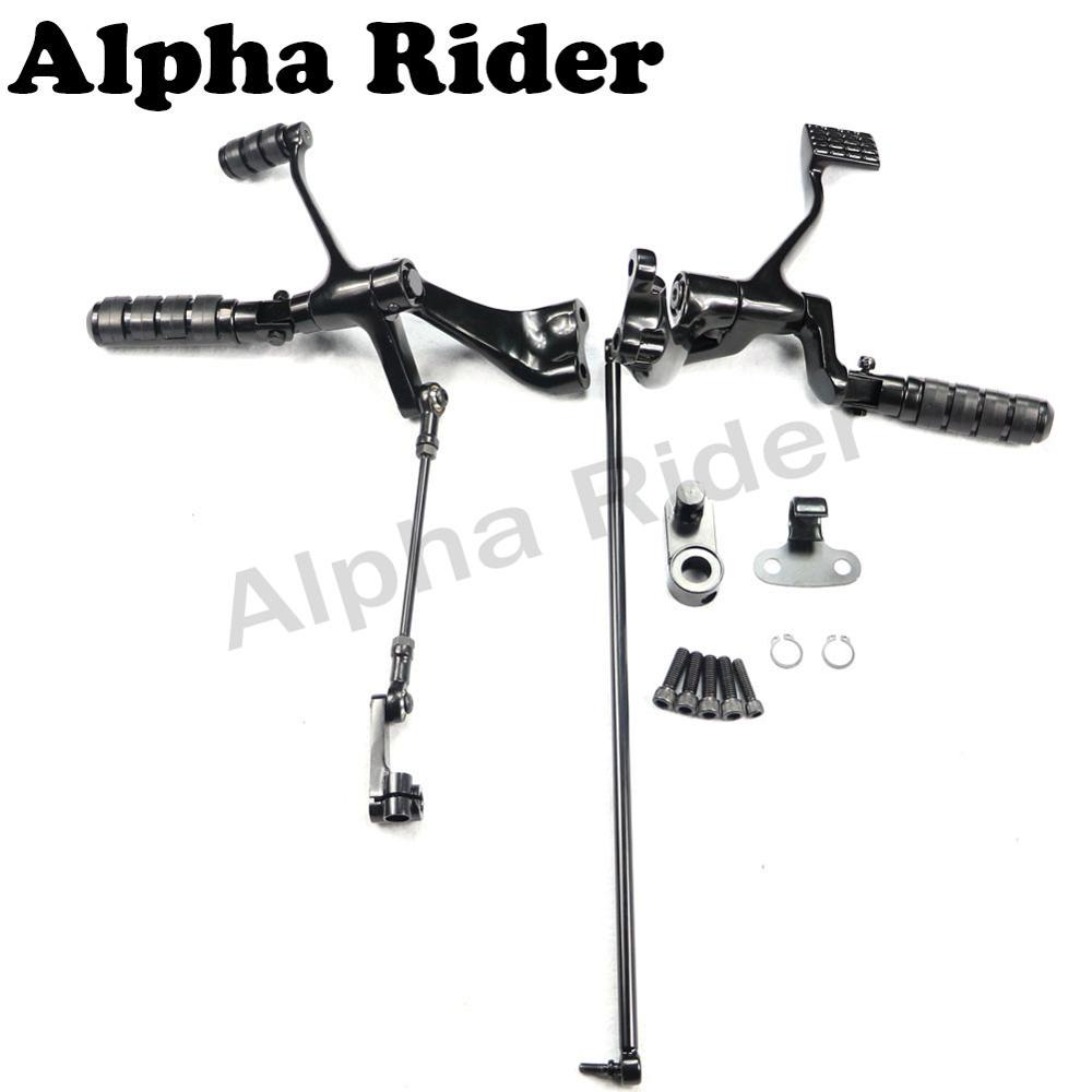 Complete Forward Control Foot Pegs Levers Linkage Kit w