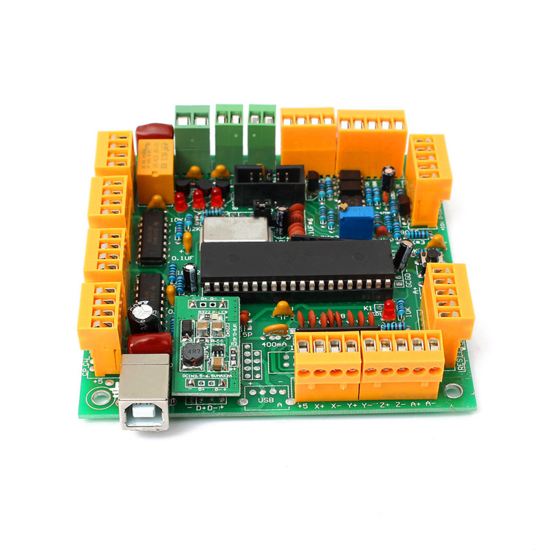 Best Price 4 Axis USB CNC Controller Interface Board CNCUSB MK1 USBCNC 2.1 Substitute MACH3 High Quality freeshipping 0 to 10 vpwm spindle speed controller mach3 interface board
