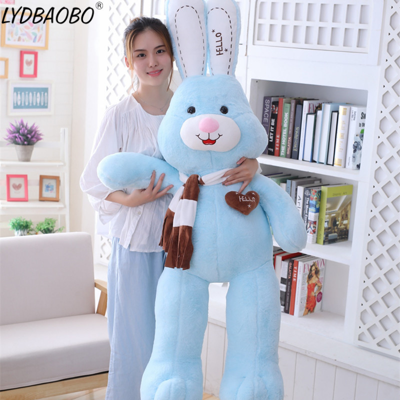 1pc 80/100cm Big Size Cute rabbit plush toy stuffed soft rabbit doll baby kids toys animal toy Baby Kids birthday christmas gift little rabbit animal series many chew toy