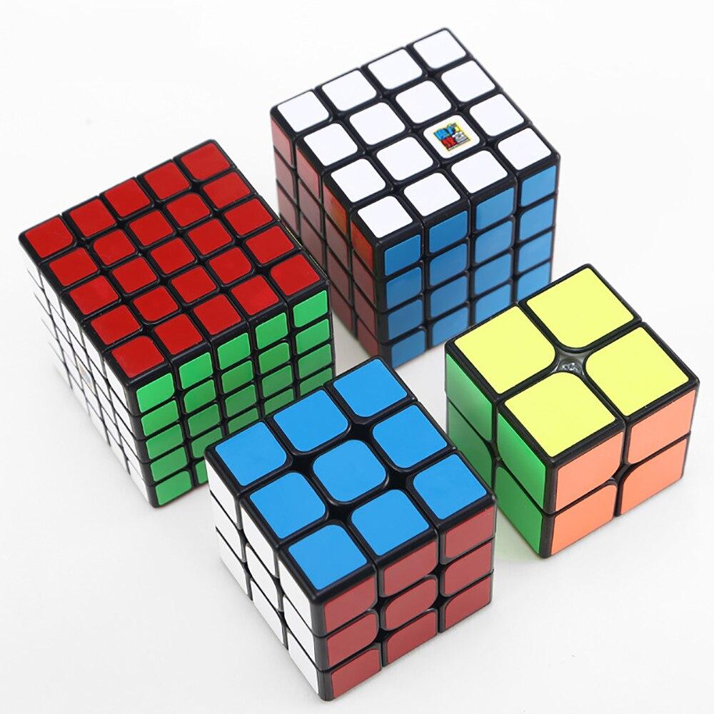 4 pièces/ensemble professionnel 2X2 3X3 4X4 5X5 vitesse Cubes magiques Puzzle Puzzle Cube formation cerveau jouets cadeaux jouets pour enfants