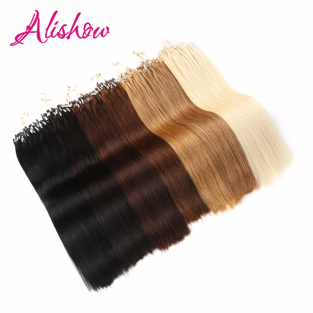 Alishow Hair 100g Pack 16 Quot 24 Quot Remy Loop Micro Ring Hair