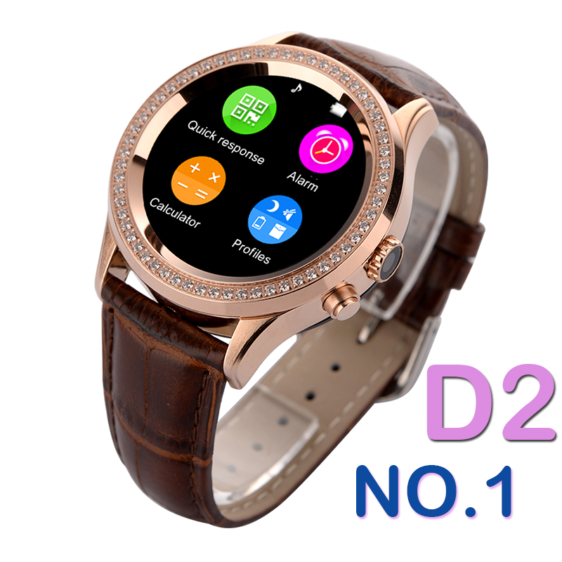 No.1 D2 Waterproof Bluetooth Women Diamond Smart Watch For iOS Android  Smartwatch Heart Monitor Sedentary Reminder Wristwatch 2bc46a56d0