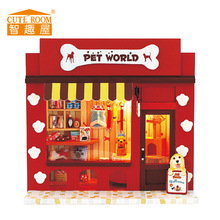 Cute Room Toy for Girls Doll House Puppenhaus Brithday Miniature Furniture House Toys for Children Wooden House Toys-Pet World