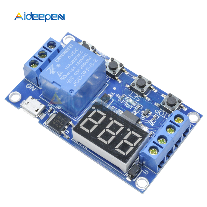 DC5V Time Delay Relay Module Trigger Cycle Timming Circuit Switch With LCD Board