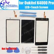 Oukitel K4000 برو شاشة الكريستال السائل + شاشة تعمل باللمس 100% الأصلي اختبار LCD محول الأرقام زجاج لوحة استبدال ل Oukitel K4000 برو