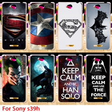 Soft TPU Phone Cases For Sony Xperia C S39h C2305 Cases Superman Hard Back Cover Hood