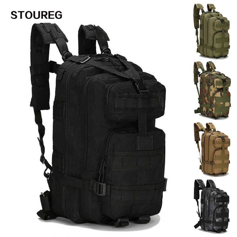 20-30L Unisex Military Tactical Backpack, Men's Trekking Sport Travel Rucksacks, Camping Hiking Fishing Bags