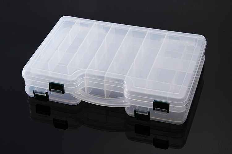 29X19X6CM Waterproof Fishing Lure Boxes Minnow Boxes Movable Interlayer Caja Pesca Carp Fishing Accessories Pesca Tackle Tool