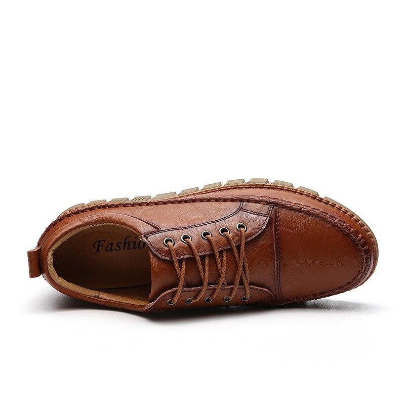Designer Casual marron Mâle Main Daily La Cuir Automne Confortable Qualité Italien Noir Hommes Printemps En chocolat Chaussures À aXvqE6Xwx