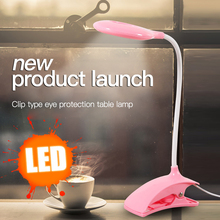 Desk lamp USB led Table Lamp LED with Clip Bed Reading book Light Modern fixtures