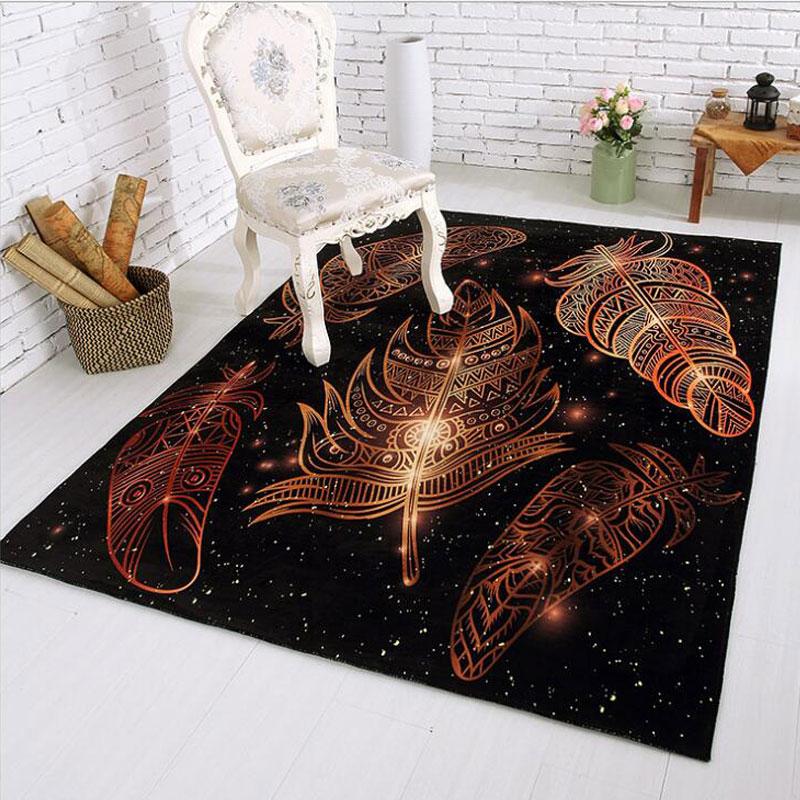 120x170cm american pastoral big carpets living room washable large rugs hotel oval bedroom slip resistant mat