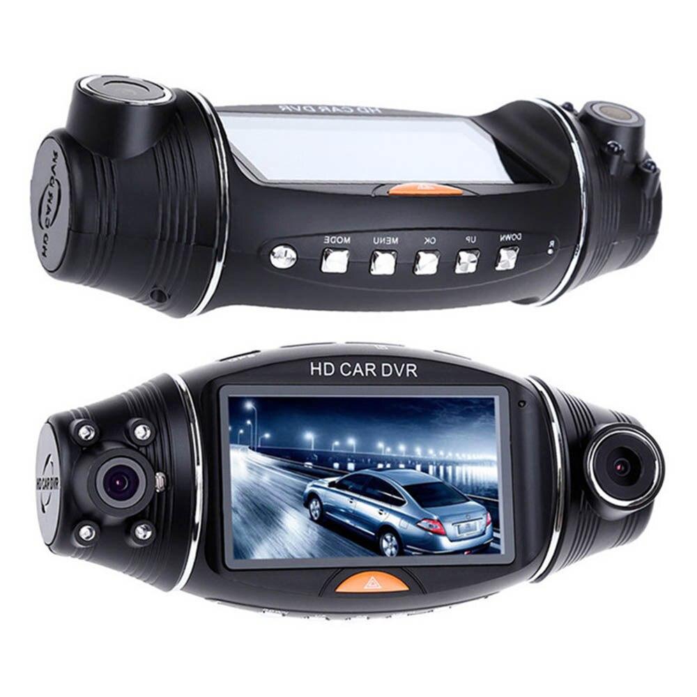New Car DVR Camera Car DVR GPS Dual Camera HD 720P Night Vision Dual Lens DVR