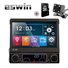 7″ 1 Din WCE Car DVD Player GPS Navigation Universal In-dash Detachable Front Panel Auto Radio Audio Stereo with TV Function