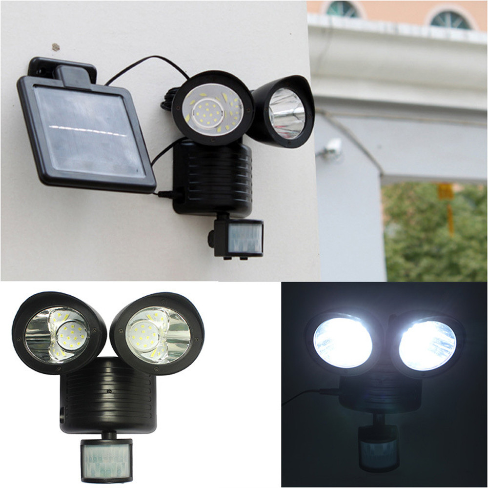 Home & Garden Punctual Dual Security Detector Solar Spot Light Motion Sensor Outdoor 22 Led Floodlight F116free Shipping