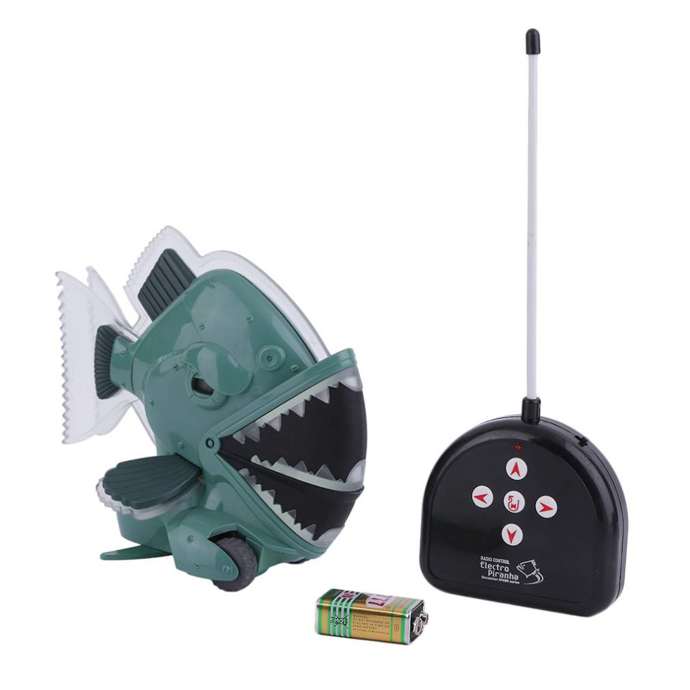 Toys Remote Control Electronic Horrible Piranha Fish Swimming Kids Childen Toys Simulate Spider Series Great Gifts