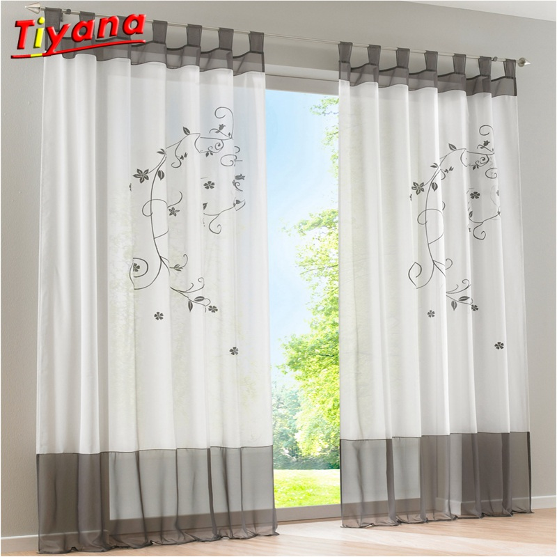 1.4x2.6 Ready Made Curtain Tulle Sheer Curtain For Living Room Bedroom Kitchen Luxury Valance Window Curtain Set Panel DL009*20