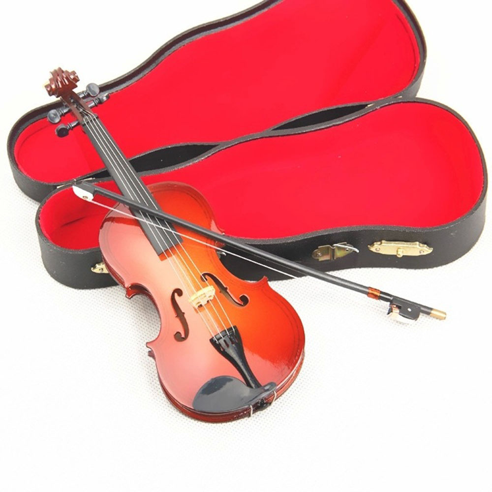 MoonEmbassy 3D Musical Instrument Violin Miniature Display Model Realistic Music Lover Gift