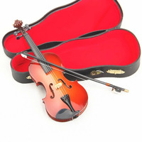 MoonEmbassy 3D Violin Miniature Display Model Realistic Music Instrument Gift