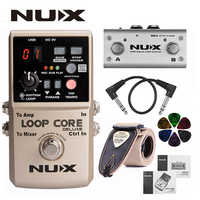 NUX Loop Core Deluxe Upgraded Guitar Loop Pedal with Foot Switch Automatic Tempo Detection 8 Hours Recording 24-bit Audio+Gifts