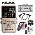 NUX Loop Core Deluxe Модернизированный гитары петля для езды на велосипеде с переключателем для ног автоматический темп проверка 8 часовая запись 24-...