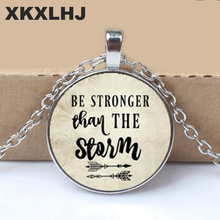 BE STRONGER than the STORM Pendant,Inspirational charm necklace, gift for her, Cancer survivor, Warrior charm, Gift a Friend