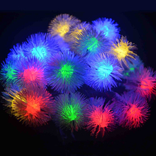 10M 80 LEDs Snow-Ball  LED Outdoor Home Christmas Decorative xmas String Fairy Curtain Garlands Strip Party Lights For Wedding