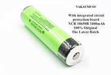1PCS 100% Original Protected NCR 18650B 18650 Battery 3.7V 3400mAh Rechargeable Batteries For Flashlight/Torches/Power Bank
