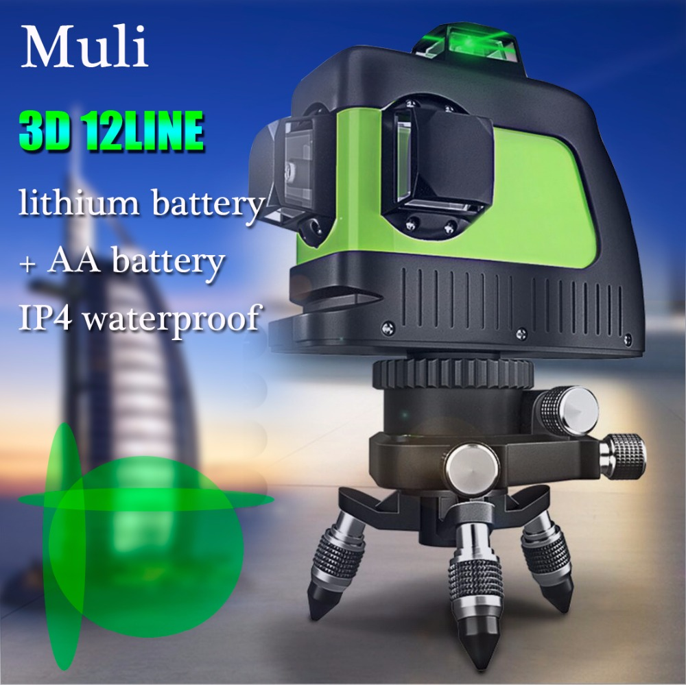Мули лазерного де авто-nivelamento лазерный 3D 12 Linhas Верде 360 горизонтальная E вертикальный Крус супер Poderoso Feixe de Лазерная Верде