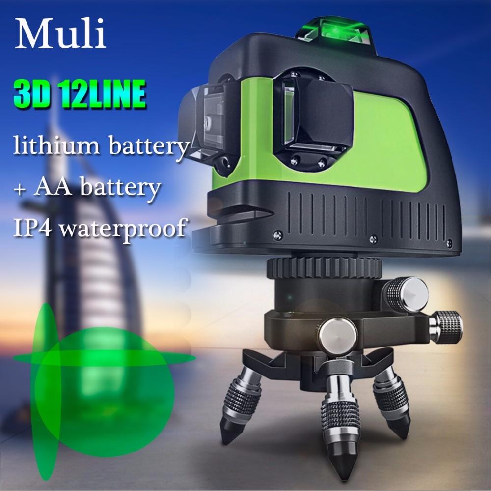 Muli laser de Auto-nivelamento Un Laser 3D 12 Linhas Verde 360 Horizontal E Vertical Cruz Super Poderoso Feixe de Laser verde