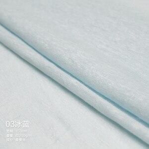 Image 4 - Pearlsilk 가벼운 얇은 니트 린넨 탄성 100% 아마 의류 meterials 여름 티셔츠 DIY 의류 직물 Freeshipping