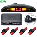 DC 12V Auto Reverse Backup Flat Radar Detector System with LED Display Monitor 16mm Original Car Flat Parking Sensor 6 Colors