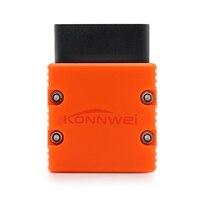 KONNWEI KW902 Bluetooth ELM327 V1.5 Chip PIC18f25k80 lector de código OBDII ELM 327 herramienta de diagnóstico funciona en Android PC 16Pin kw 902