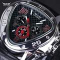 Homens Relógio JARAGAR originais Triângulo Big Dial Luxo Famosa Marca de Relógios Homens Relógio de Aço Inoxidável relógio de Pulso À Prova D' Água