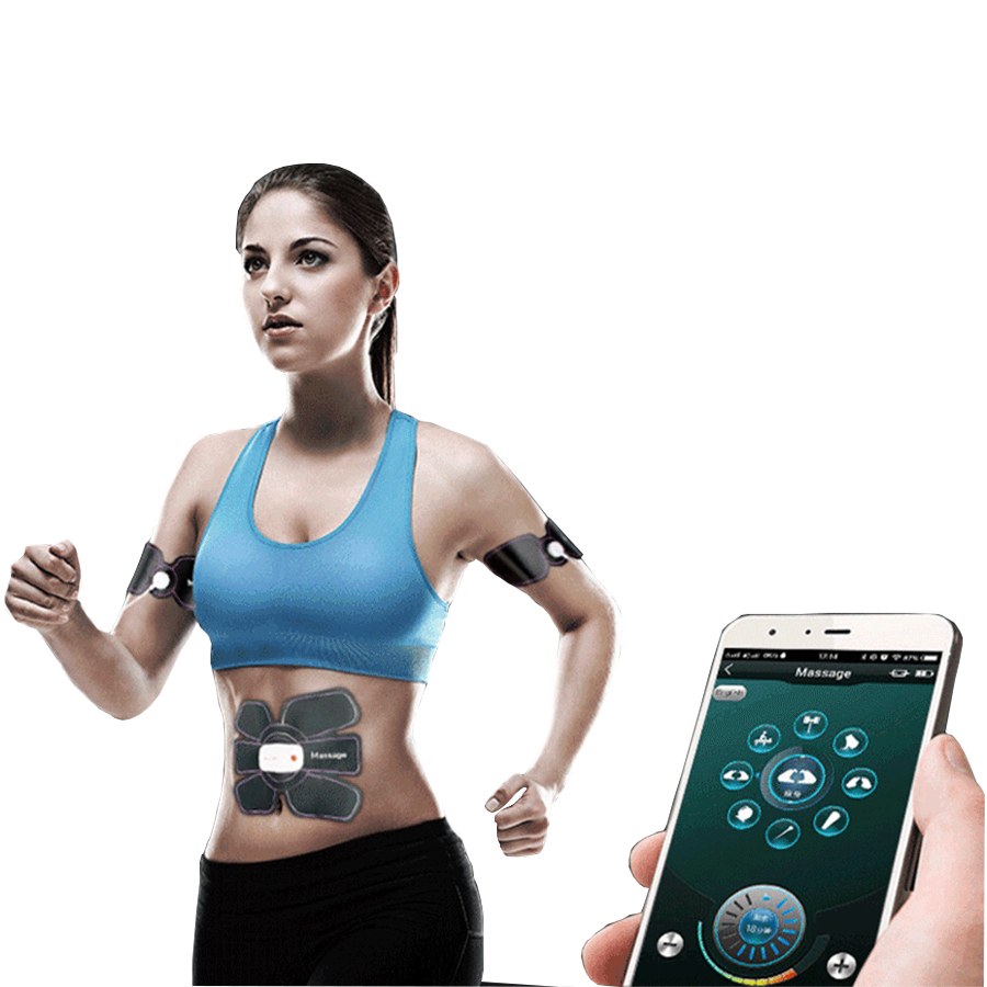 Rechargeable ABS muscle Stimulator Massager Electric For The Body Pulse Fitness Bluetooth Control Tens Muscle Relax