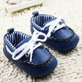 New PU Leather Infant Toddler Prewalker Shoes Newborn Baby Kids Boys Girls Soft Sole Anti-slip Cotton Padded Footwear
