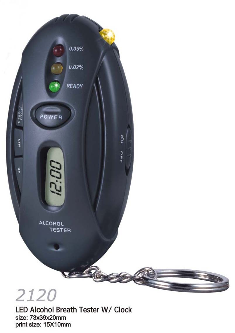 Alcohol tester led lighting alcohol tester portable keychain alcohol tester