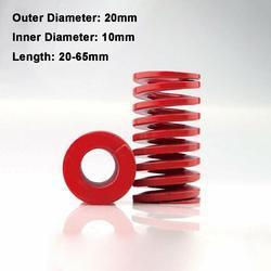 1 шт. Красная пружина средней нагрузки наружный диаметр 20 мм внутренний диаметр 10 мм загрузка пресс-формы длина пружины 20-65 мм