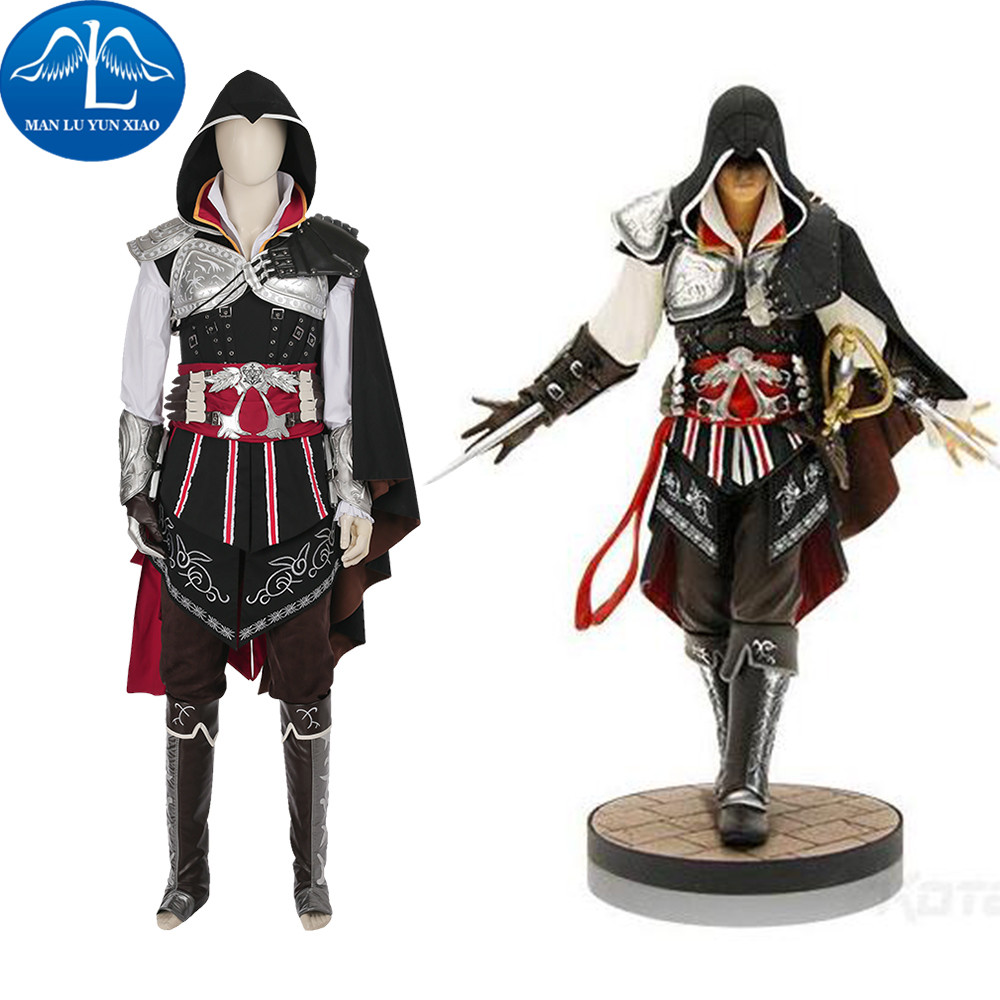 New Arrival Assassin's Creed 2 Costume Ezio Auditore Da Firenze Costume Cosplay Costume For Men Halloween Costume