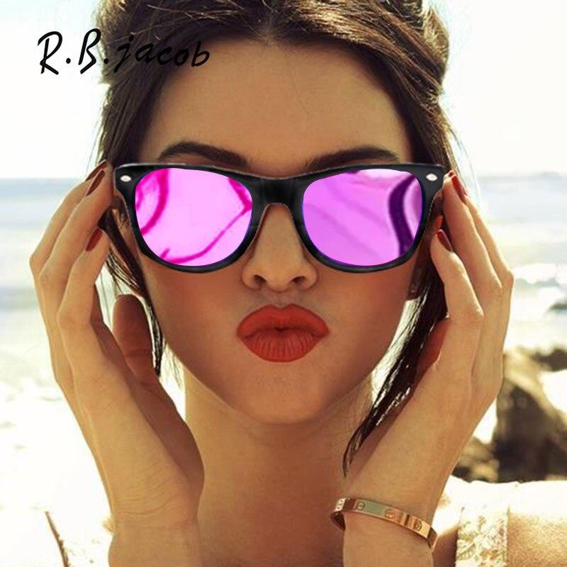 Classic Square Mirror Sunglasses New Brand Designer Super Stylish UV400 Mirror Sun Glasses Purple Male Female Women Men