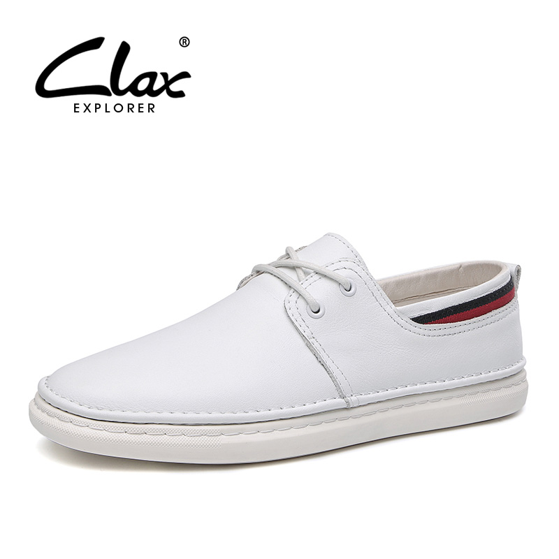 CLAX Mens Shoes Leather 2019 Spring Autumn Casual Male Walking Footwear Fashion Mans Leisure Shoe