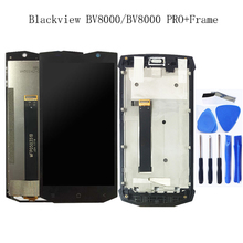 5.0 inç orijinal Blackview BV8000 LCD ekran dokunmatik ekranlı sayısallaştırıcı grup Blackview BV8000 Pro BV 8000 telefon parçaları