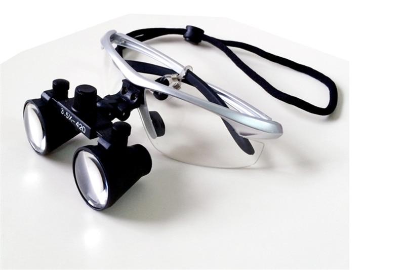 Dokter Gigi Bedah Medis Perak portabel Loupe Kaca Optik perbesaran 2.5x /3.5x